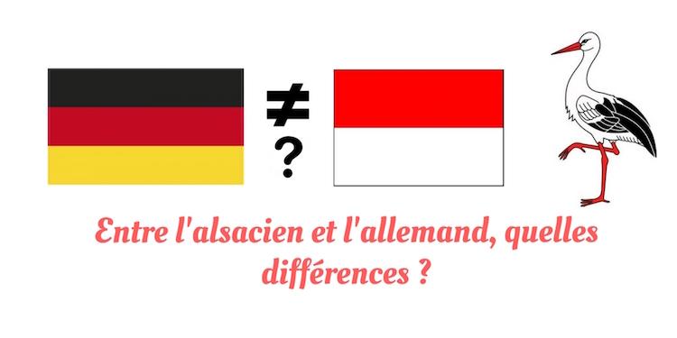 Difference alsacien allemand